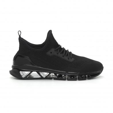 Ανδρικά μαύρα αθλητικά παπούτσια Knife ελαφρύ μοντέλο it150319-24 2