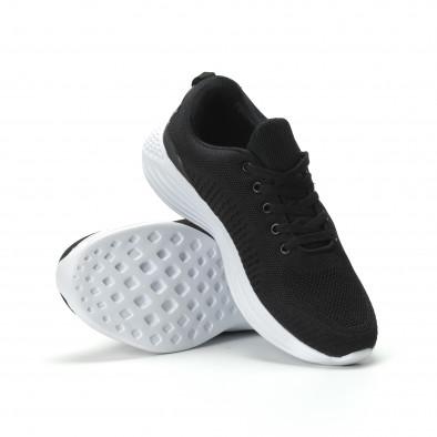 Ανδρικά μαύρα αθλητικά παπούτσια ελαφρύ μοντέλο it250119-19 4
