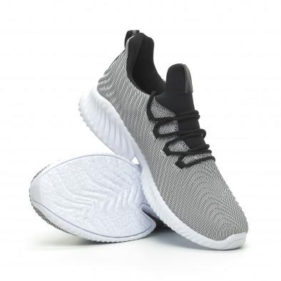 Ανδρικά γκρι αθλητικά παπούτσια Wave ελαφρύ μοντέλο it100519-5 4