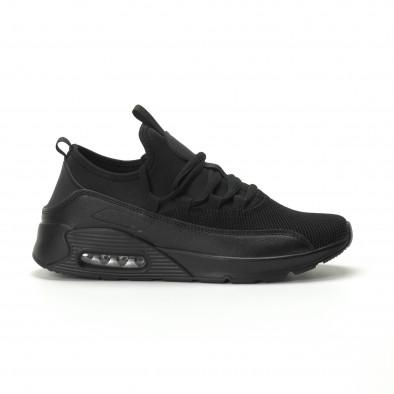 Ανδρικά μαύρα αθλητικά παπούτσια Air ελαφρύ μοντέλο it250119-29 2