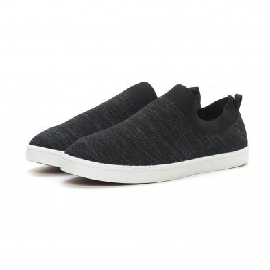 Ανδρικά μαύρα μελάνζ sneakers κάλτσα it150319-15 3