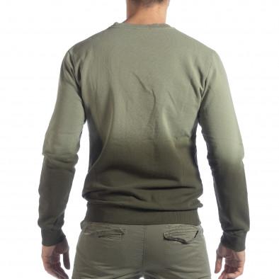 Ανδρική πράσινη μπλούζα με επένδυση it040219-91 3