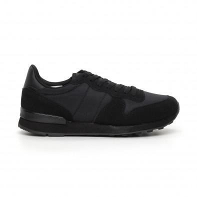 Ανδρικά μαύρα αθλητικά παπούτσια ελαφρύ μοντέλο  it130819-13 2