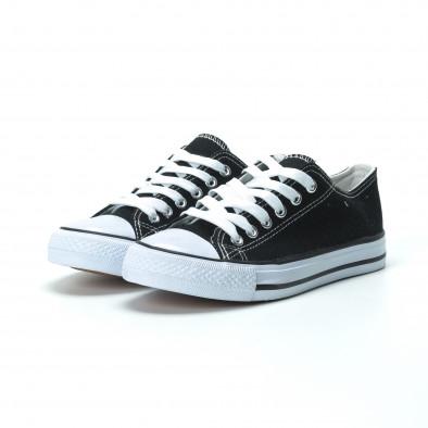 Γυναικεία μαύρα sneakers κλασικό μοντέλο it250119-70 3