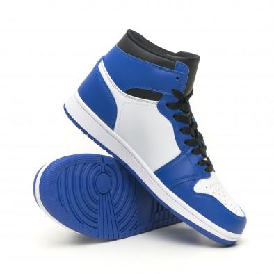 Ανδρικά ψηλά μπλε-λευκά sneakers  it251019-21 5