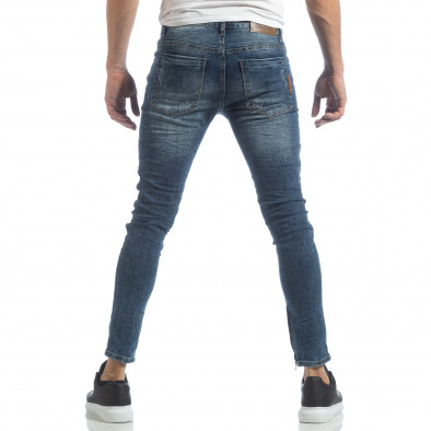 Ανδρικό γαλάζιο τζιν Slim fit με φερμουάρ it040219-9 4