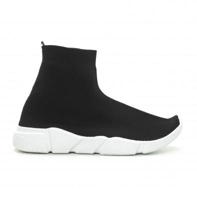 Ανδρικά μαύρα αθλητικά παπούτσια Slip-on  it150319-13 2