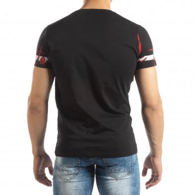 Ανδρική μαύρη κοντομάνικη μπλούζα με πριντ it150419-103 3