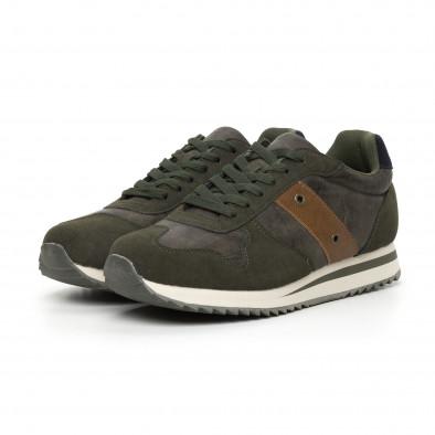 Ανδρικά πράσινα αθλητικά παπούτσια  it130819-4 3