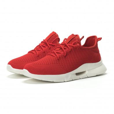 Ανδρικά κόκκινα αθλητικά παπούτσια Hole design ελαφρύ μοντέλο it250119-21 3
