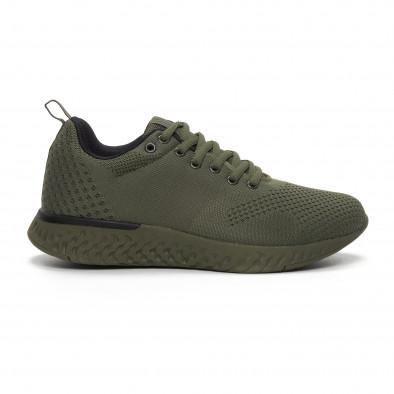 Ανδρικά πράσινα πλεκτά αθλητικά παπούτσια  it240419-12 2