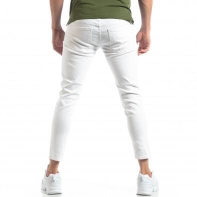Ανδρικό λευκό τζιν με σκισίματα it210319-6 3