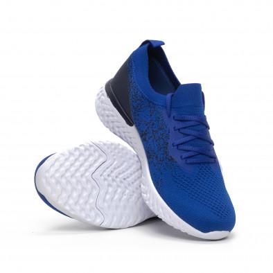 Ανδρικά μπλε αθλητικά παπούτσια καλτσάκι it240419-11 4