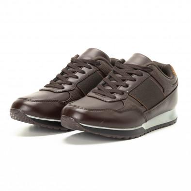 Ανδρικά καφέ αθλητικά παπούτσια κλασικό μοντέλο it221018-30 3