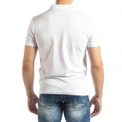 Ανδρική λευκή Polo Shirt it150419-97 3