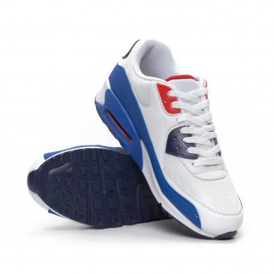 Ανδρικά λευκά αθλητικά παπούτσια με αερόσολα it240419-19 4