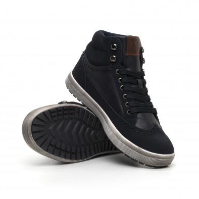 Ανδρικά μπλε ψηλά sneakers  it260919-43 4