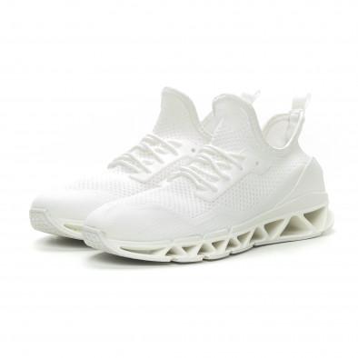 Ανδρικά λευκά αθλητικά παπούτσια Knife ελαφρύ μοντέλο it150319-27 3
