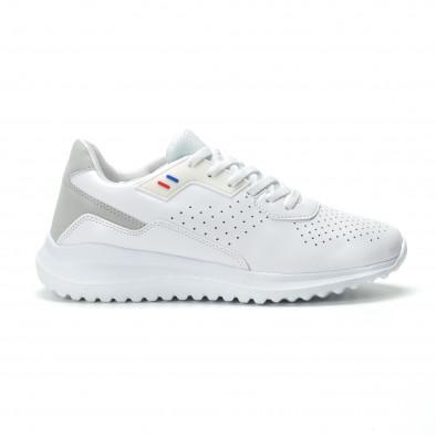 Ανδρικά λευκά αθλητικά παπούτσια ελαφρύ μοντέλο it250119-16 2