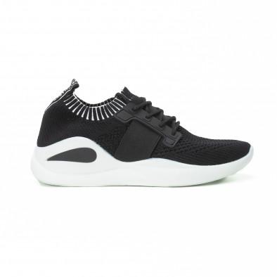 Ανδρικά μαύρα αθλητικά παπούτσια FM it150818-9 2