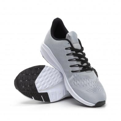 Ανδρικά γκρι αθλητικά παπούτσια ελαφρύ μοντέλο it240419-22 4