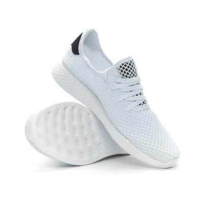 Ανδρικά λευκά αθλητικά παπούτσια Mesh ελαφρύ μοντέλο it150319-22 4