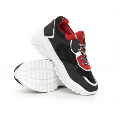 Γυναικεία αθλητικά παπούτσια σε κόκκινο και μαύρο ελαφρύ μοντέλο it130819-61 4
