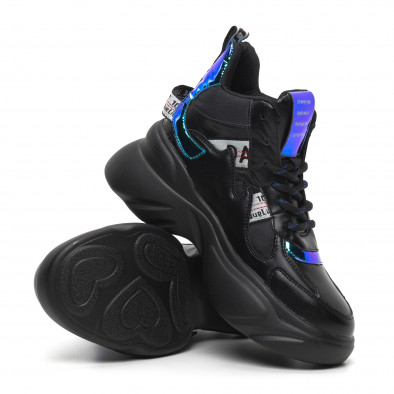 Γυναικεία ψηλά αθλητικά παπούτσια με νέον λεπτομέρειες it260919-64 5
