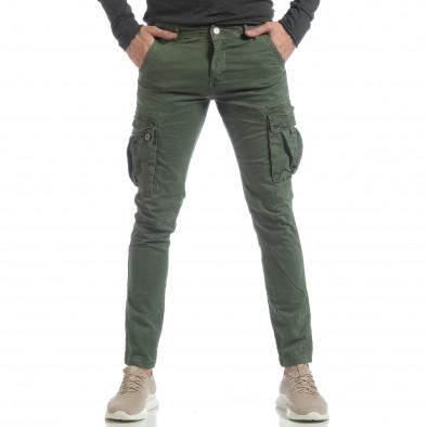 Ανδρικό πράσινο παντελόνι με cargo τσέπες it040219-39 3