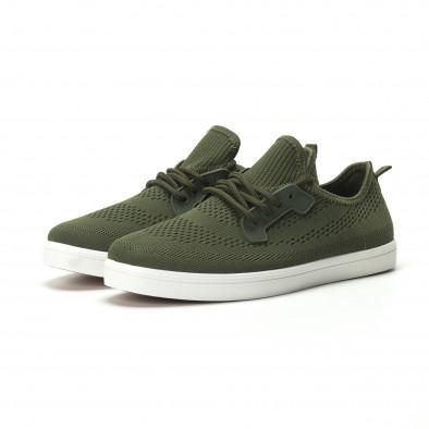 Ανδρικά χακί sneakers ελαφρύ μοντέλο it250119-15 3