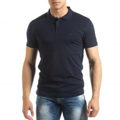 Ανδρική σκούρα μπλε Polo Shirt it150419-96 2