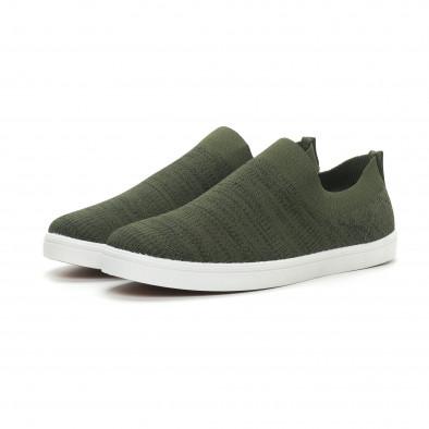 Ανδρικά πράσινα μελάνζ sneakers κάλτσα it150319-16 3