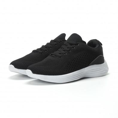Ανδρικά μαύρα αθλητικά παπούτσια ελαφρύ μοντέλο it250119-19 3