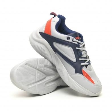 Ανδρικά γκρι αθλητικά παπούτσια ελαφρύ μοντέλο it251019-14 5