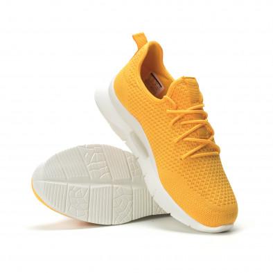 Ανδρικά κίτρινα αθλητικά παπούτσια Hole design ελαφρύ μοντέλο it250119-25 4