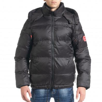 Ανδρικό μαύρο χειμωνιάτικο μπουφάν Marshall Angel it091219-11 2