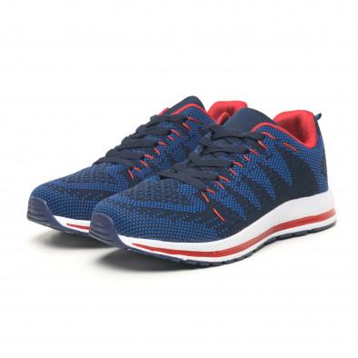 Ανδρικά υφασμάτινα αθλητικά παπούτσια σε μπλε και κόκκινο it251019-6 4