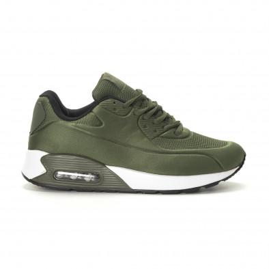 Ανδρικά military πράσινα αθλητικά παπούτσια με αερόσολα it190219-8 2