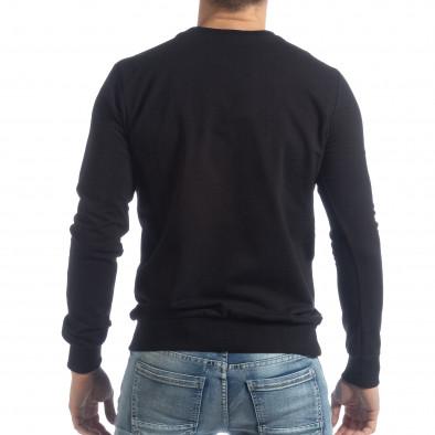 Ανδρική μαύρη μπλούζα Basic it040219-93 3