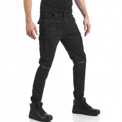 Ανδρικό μαύρο παντελόνι cargo Always Jeans it041217-43 4