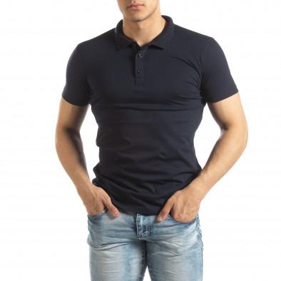 Ανδρική σκούρα μπλε Basic Polo shirt it150419-61 2