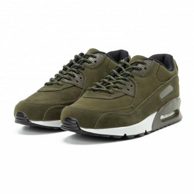 Ανδρικά πράσινα σουέτ αθλητικά παπούτσια Air it140918-29 3