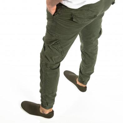 Ανδρικό military πράσινο παντελόνι Cargo Jogger it210319-17 2