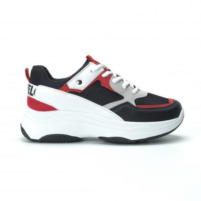 Γυναικεία sneakers από συνδυασμό χρωμάτων με πλατφόρμα it250119-33 3