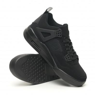 Ανδρικά sneakers ελαφρύ μοντέλο με αερόσολα All black it251019-24 5
