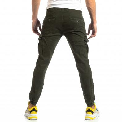 Ανδρικό πράσινο παντελόνι cargo με λάστιχο στις άκρες it261018-22 4