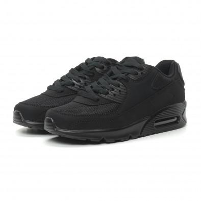 Γυναικεία μαύρα αθλητικά παπούτσια με αερόσολα it150319-54 3