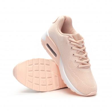 Γυναικεία ροζ αθλητικά παπούτσια με αερόσολα it240419-33 4