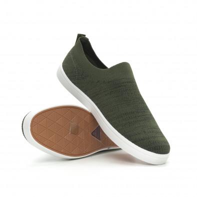 Ανδρικά πράσινα μελάνζ sneakers κάλτσα it150319-16 4