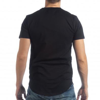 Ανδρική μαύρη κοντομάνικη μπλούζα Money Way it040219-117 4